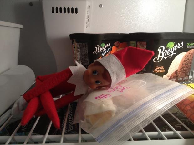 elf in freezer